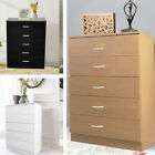 5DRAWER SET CHEST OF DRAWERS HOME BEDROOM FURNITURE STORAGE IN BLACK WHITE BEECH