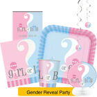Gender Reveal Partyware Range - Boy or Girl - New Baby Shower Party Decorations