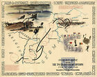 Historic WWII Military War Map OVER THE RHINE 79th Infantry Division Wall Poster