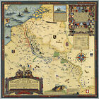 Historic Pictorial War Map Battle Lines France Belgium 1918 Military Wall Poster