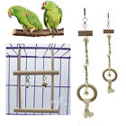 Bird Parrot Hammock Cage Happy Hut Cockatiel Parakeet Chewing Swing Hanging Toy