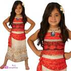 GIRLS MOANA DELUXE OFFICIAL DISNEY KIDS FANCY DRESS COSTUME (WIG NOT INCLUDED)