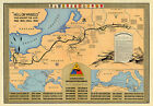 "Historic Military Map 2nd Armored Division ""Hell on wheels"" War against the Axis"