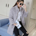 Real Whole Rabbit Fur Women Long Coat Good Buy Hot Jacket Overcoat Garment