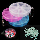 Round Portable 7 Slot Medicine Organizer Pill Box Health Drug Storage Container