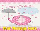 GIRL BABY SHOWER  PINK ! Edible Cake Topper Frosting Sheet  quarter half round