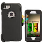 For Apple iPhone 7 / 7+ Plus Armor Case (Clip Fits Otterbox Defender) Black