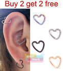G2B 316L Surgical Steel Fashion Heart Ring Body Hoop Earring Piercing Jewelry