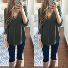 US STOCK Women's Loose Long Sleeve Casual Blouse Shirt Tops Fashion Blouse