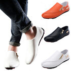 Fashion New PU Leather Slip On Mens Driving Moccasin Loafer Soft Casual Shoes