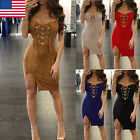 Us Women Summer Casual Bandage Bodycon Evening Party Cocktail Short Mini Dress