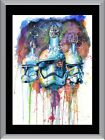 Star Wars Watercolour Storm Trooper A1 To A4 Size Poster Prints $17.95 AUD