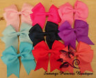 GIRLS CUTE 4.5 INCH FLAT TAILS BOUTIQUE RIBBON HAIR BOW BOWS CLIP SLIDE GRIP