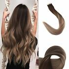 skin weft hair extensions - European Remy Human Hair Skin Weft Tape in Hair Extensions Ombre Balayage Color
