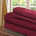 Chic Home Pleated Microfiber Sheet Burgundy - Twin, Full, Queen, King
