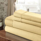 Chic Home 100% Cotton 300T Sheet Set Gold Twin, Full, Queen, King