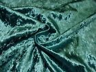 """""""Diamond"""" Teal Crushed Velvet Fabric Curtain Upholstery Cushions Blinds"""