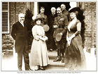 KING GEORGE V, QUEEN MARY, KING EDWARD VIII, ETC ABBEVILLE PRINT. ROYAL GROUP