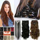 Full Head 8pcs 18clips Clip in on Hair Extensions Real thick as human hair SN10