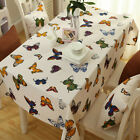 Cotton Table Cloth Fabric Tablecloth Butterfly Sofa Chair Cover Home Decor 220cm