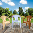 Plastic Garden Chairs Stacking Strong Chair Patio Outdoor Party Low Back Seat Uk