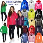 Womens Plus Size Hooded Jacket Ladies Regular Plain Zipped Hoodie Hoody Hooded