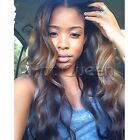 """100% Brazilian Remy Human Hair Lace Front Wig Full Lace Wig Ombre Color 16""""-24"""""""