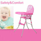 Portable Baby High Chair Infant Toddler Feeding Convertible Seat Booster Recline