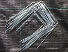 GALVANIZED METAL PEGS GROUND COVER FABRIC STAPLES WEED CONTROL ANCHOR PINS