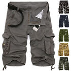 New Mens Casual Military Army 3/4 Cargo Combat Work Jeans Pants Trousers Shorts