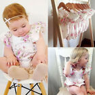 Infant Baby Girls Floral Printed Bodysuit Jumpsuit Romper Outfits Gift Hot 2017