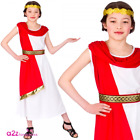 Ancient Roman Lady Princess Kids Girls Historical Greek Costume Sizes 5-13 Years