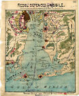 1865 Map Mobile Alabama Civil War Poster Military Battles Naval Operations Print