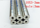 10-100 PCS Strong Round Ring Magnets 10mm x 3mm Hole 3mm Rare Earth Neodymium