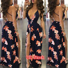 Usa Women Boho Long Evening Party Cocktail Prom Floral Summer Beach Maxi Dress