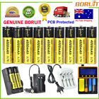 BORUiT 4000mAh 3.7V 18650 Rechargeable Li-ion Battery 2 Slot Car Dual Charger AU