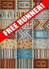 FREE RUNNER Bright modern harlequin geometric floral small large cheap rug mat