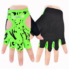 Women Powerlifting Fitness Gym Training Yoga Cycling Riding Fingerless Gloves
