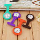 Colorful Rubber Nurse Watch Resin Silicone Brooch Tunic Pocket Round Clip Watch
