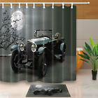 Car theme Polyester fabric Shower Curtain Set with hooks Bathroom mat 71inch