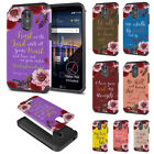For LG Stylo 3 Plus/ Stylus 3/ Stylo 3 LS777 Quotes Design Hybrid Case Cover