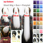 24Colors New Fashion Party Short Cosplay MSN Base Wig / Clip Ponytails / Bun