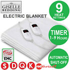 Electric Blanket Fully Fitted Polyester Heated Single Double King Queen Size Bed