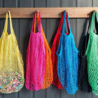 Soft Cotton Shopping String Bag Mesh Net Woven Grocery Handbag Storage Reusable
