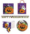 HAPPY HALLOWEEN - PARTY RANGE (Tableware/ Decorations)Ghost/Pumpkin/Theme