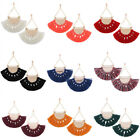 Hot Ear Stud European Style Fan-shaped Tassels Dangle Earrings for Women New