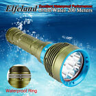 Внешний вид - 30000LM 7x T6 LED Diving Flashlight Waterproof Scuba Torch Lamp Underwater 200m