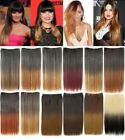 CELEBRITY ONE PIECE CLIP IN OMBRE DIP DYE STRAIGHT HAIR EXTENSION WEFT HAIRPIECE