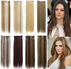 "STRAIGHT CLIP IN 22"" STREAK/HIGHLIGHT HAIR EXTENSIONS ONE PIECE KOKO UK K002"