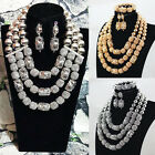 New Fashion Necklace Earring Set Arabic Women Bridal Wedding Beads Jewelry Sets